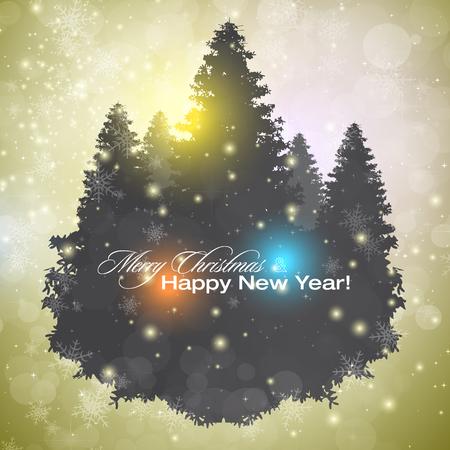 navidad elegante: Fondo de Navidad elegante y brillante con lugar para el texto. Ilustración del vector.