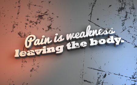athletic type: Pain is weakness leaving the body. 3D Motivational poster