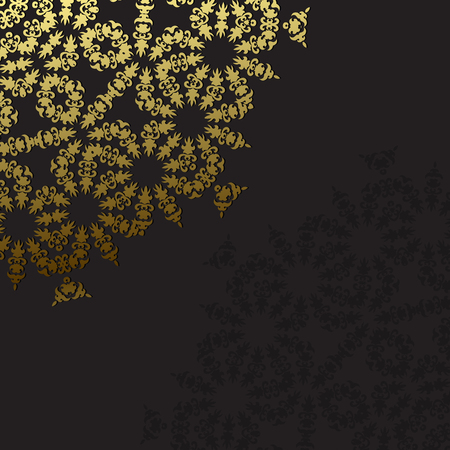 ornate background: Elegant background with lace ornament and place for text. Floral elements, ornate background