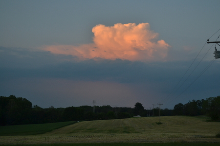 puffy: Puffy cloud before a storm