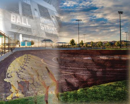 Softball Field Background 版權商用圖片