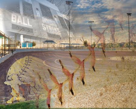 Softball and baseball field