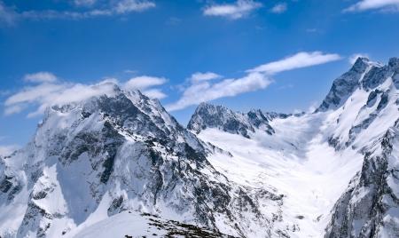 dombay: Beautiful landscape of the Caucasus Mountains Dombai