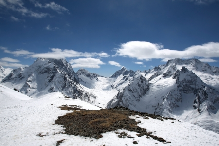 dombay: The beautiful landscape of the Caucasus Mountains Dombai