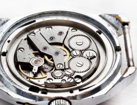 Macro mechanism of old wristwatches photo