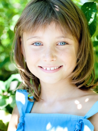 freckled: Portrait of attractive beautiful girl with blue eyes
