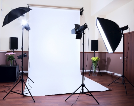 Photo Studio in a private school with lighting equipment