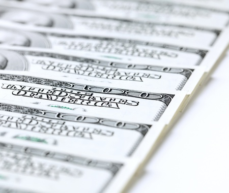 payday: Close Up of dollar banknotes Stock Photo