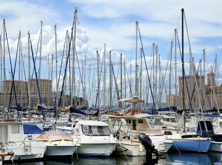 pleasure boat: Yachts in the port of Marseille