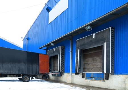 wholesale: Loading ramp for trucks of a warehouse