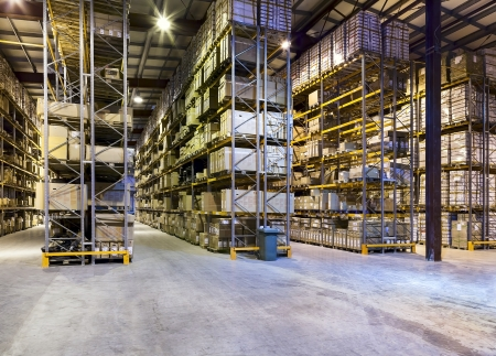 empty warehouse: Interior of new large and modern warehouse space