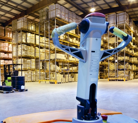 forklifts: Large modern warehouse with forklifts