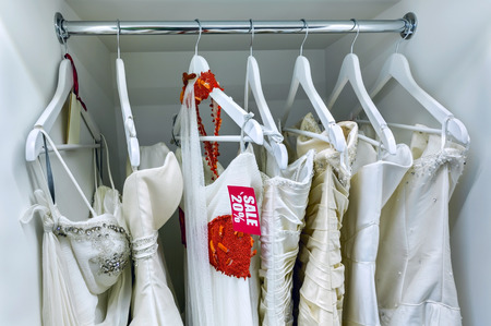 abreast: Sale collection of wedding dresses in the shop at discount