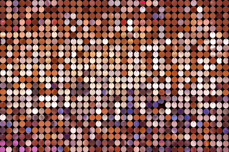 circles pattern: Beautiful abstract sparkles glitter background. Glittering sequins on the wall Stock Photo