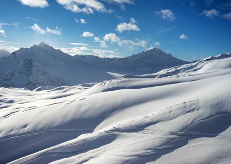 massif: Beautiful scenery mountain massif on the North Caucasus on winter resort