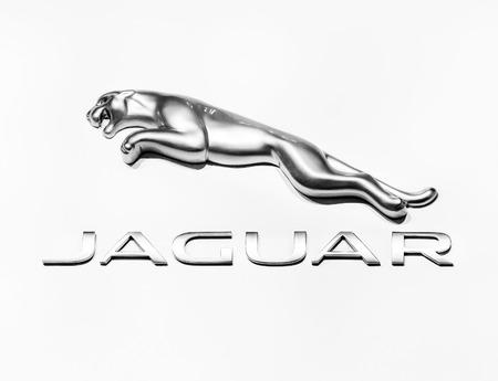 Moscow Russia Sept 4 Jaguar Dealership Logo On September Stock