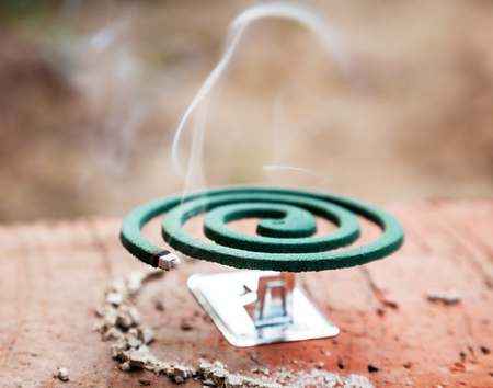 repulsive: Burning mosquito coil is an anti-mosquito repellent