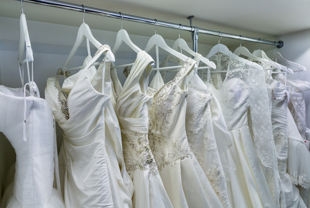 abreast: Collection of wedding dresses in the shop