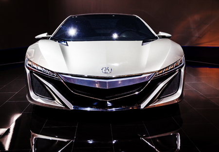 MOSCOW, RUSSIA - SEPT 4, 2012: Acura NSX is a separate division of Japanese automaker Honda and is most expensive production supercar produced in United States Editorial