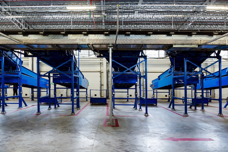 Sorting line for cargo in large modern warehouse