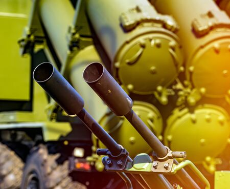 Heavy machine gun antiaircraft defense of antiaircraft missile complex
