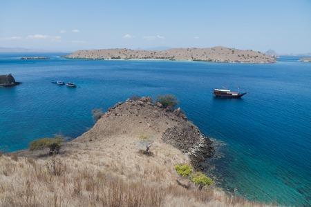 indonesian biodiversity: Pink Beach, Komodo Islands Boat trip to labuan Bajo, Indonesia