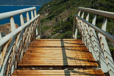 perhentian: Steel bridge for people on Perhentian Islands, Malaysia.