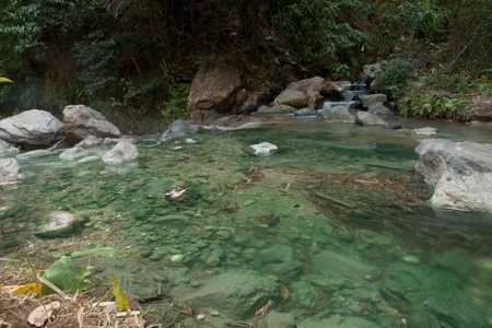 klong: spring river Waterfal Hot Spring in the south of Krabi province in Klong Thom