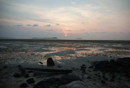 ner: Sunset at the beach on Bintan Island, Indonesia ner Singapore
