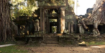Door in the Temple Ankor Wat in Siem Reap