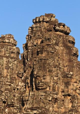 Ancient stone face of Bayon temple, Angkor