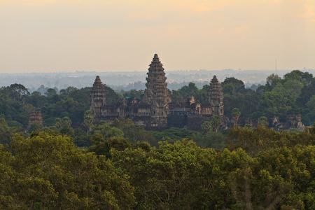 Ankor Wat surounded by the Forest