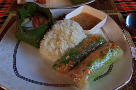 fish and coconut amok cambodia khmer food
