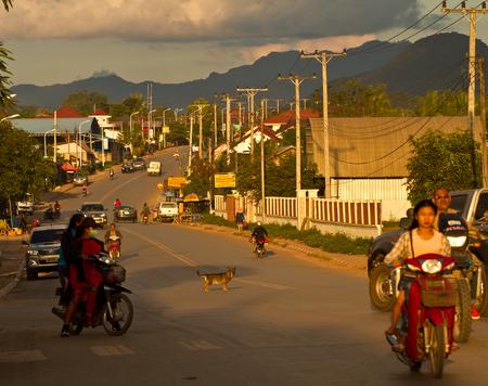 Oudomxay 지방의 도로 에디토리얼