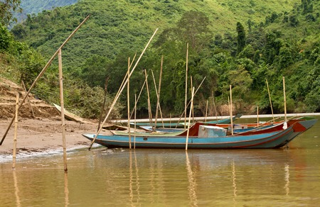 Fishing Boat in Nong Khiaw and Ou river, Laos