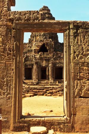 Corridor in an Ankor Wat temple