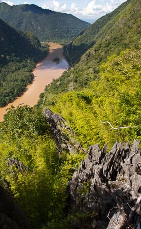 Landscape of Nong Khiaw and Ou river, Laos