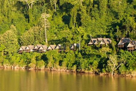 Nam Ou river in Nong Khiaw village