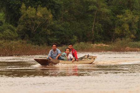 local transport boat atthe Nam Ou river Editorial