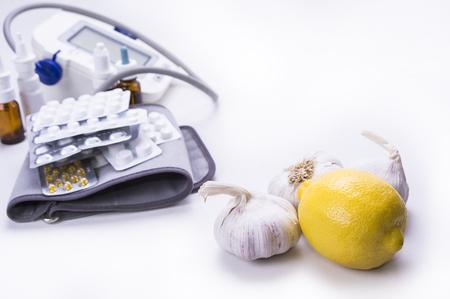 Natural remedy garlic lemon versus drugs and pills