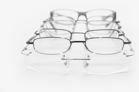 Frames for people with vision disorder for metal glasses