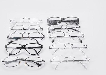 shortsightedness: Plastic and metal dioptrical farmes for men and women