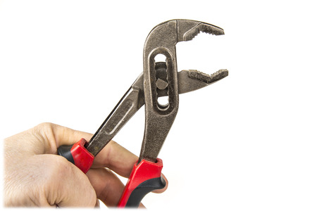 Straight Jaw Tongue and Groove Pliers on the white background