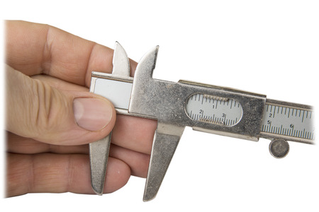 Vernier caliper in the white background