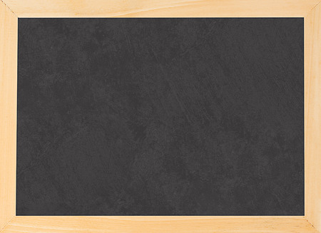 Blank schoolchalk board with a texture in wooden frame