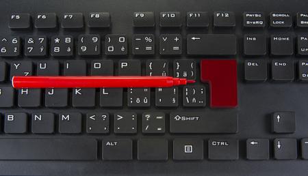 Blank enter and shift keys on computer keyboard Banque d'images