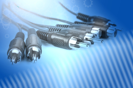 Cinch RCA connectors for audio and video