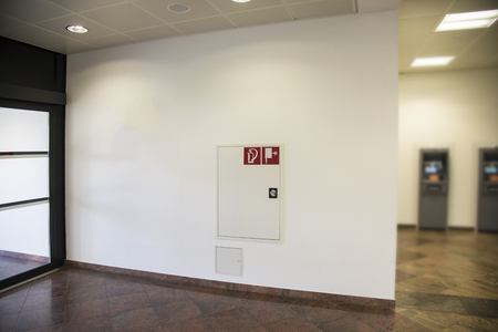 Hydrant and fire extinguisher at the airport or public building
