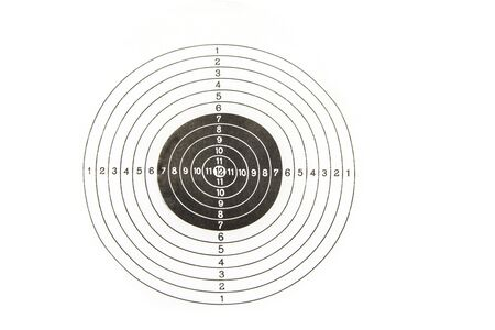 Shooting target on a white background. Success concept Stock Photo