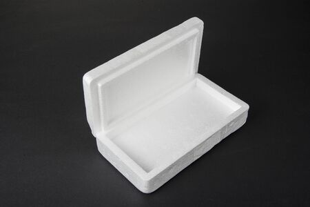 Polystyrene box on a black background for smartphone